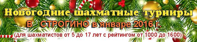 новогодние шахматные турниры в строгино в январе 2016 г.